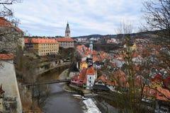 Cesky Krumlov Schloss, Tschechische Republik Stockfotos