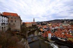Cesky Krumlov Schloss, Tschechische Republik Lizenzfreie Stockfotos