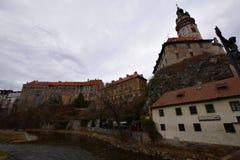 Cesky Krumlov Schloss, Tschechische Republik Lizenzfreie Stockbilder