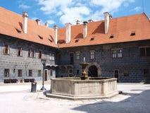 Cesky Krumlov Schloss, Tschechische Republik lizenzfreies stockbild