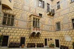 Cesky Krumlov slott Royaltyfria Foton