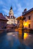 Cesky Krumlov slott i Tjeckien fotografering för bildbyråer