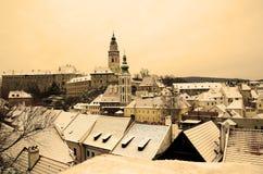 Cesky Krumlov Snowy Stock Photography