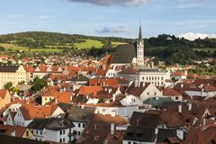 Cesky Krumlov, South Bohemia, Czech Republic Stock Images