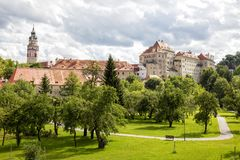 Cesky Krumlov, South Bohemia, Czech Republic Stock Photography
