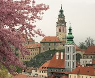 Cesky Krumlov in spring Royalty Free Stock Photography