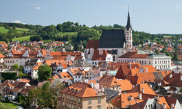 Cesky Krumlov the  St. Vitus Church Royalty Free Stock Photography