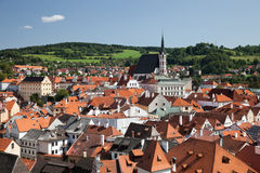 Cesky Krumlov the  St. Vitus Church Stock Images