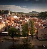 Cesky Krumlov Stadt Stockbild