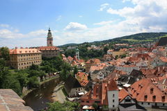 Cesky Krumlov, Stadt von Süd-Böhmen Stockfotografie