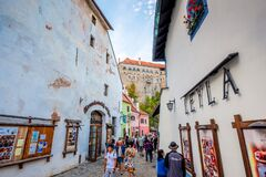 Free Cesky Krumlov Street View Royalty Free Stock Photography - 174279407