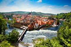 Cesky Krumlov in summer / Czech Republic Stock Photography