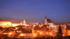 Cesky krumlov, Tjeckien Arkivfoto