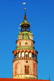 Cesky Krumlov Tower Stock Photo