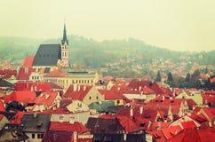 Cesky Krumlov town Stock Photos