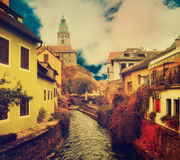 Cesky Krumlov town Royalty Free Stock Photography