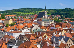 Cesky Krumlov - town on UNESCO list in Czech Republic Stock Image