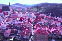 Cesky Krumlov, Tschechische Republik stockfotos