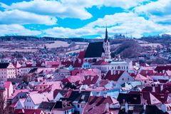 Cesky Krumlov, Tsjechische Republiek Royalty-vrije Stock Foto