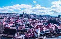 Cesky Krumlov, Tsjechische Republiek Stock Foto