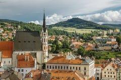 Cesky Krumlov, Tsjechische Republiek stock fotografie