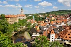 Cesky Krumlov, Tsjechische Republiek, Europa Stock Fotografie