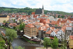 Cesky Krumlov. Is a UNESCO World Heritage Site and was given this status along with the historic Prague castle district Royalty Free Stock Photo