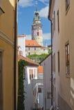 Cesky Krumlov. Vertically (Czech Republic) Stock Photography