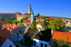Cesky Krumlov  view Stock Photography