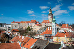 Cesky Krumlov from a view point tight shot Stock Image