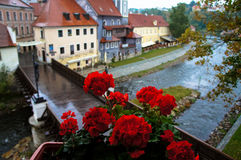 Cesky Krumlov view after rain Royalty Free Stock Images