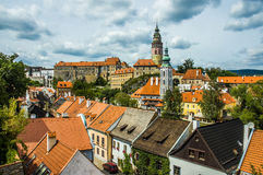 Cesky Krumlov view from the top. Cesky Krumlov city view from the top Stock Image