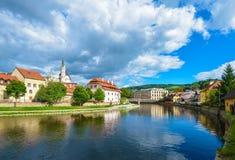 Cesky Krumlov on the Vltava River Royalty Free Stock Photos