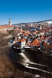 Cesky Krumlov water township Stock Photos