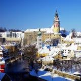 Cesky Krumlov in winter Stock Photography
