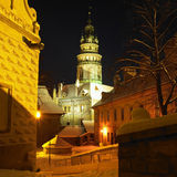 Cesky Krumlov in winter Royalty Free Stock Images