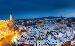 Cesky Krumlov, winter Stock Photography