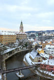 Cesky Krumlov. In winter time, Czeck Republic Royalty Free Stock Image