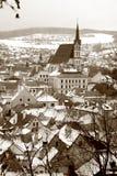 Cesky Krumlov winters scene Royalty Free Stock Photography