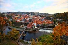 Cesky-kumlov im Herbst Lizenzfreies Stockfoto