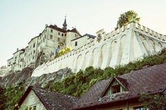 Cesky Sternberk castle, Czech republic, retro filter Royalty Free Stock Photos