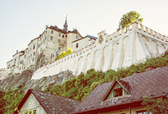 Cesky Sternberk castle, Czech republic, yellow filter Stock Image