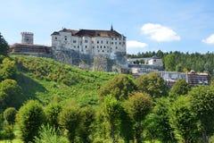 Cesky Sternberk slott Arkivfoto