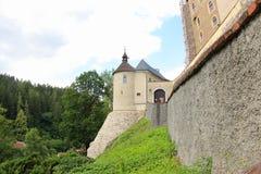 Cesky Sternberk slott, Czechia Royaltyfri Foto