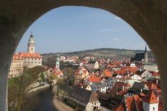 cesky tjeckisk krumlovrepublik Royaltyfri Fotografi
