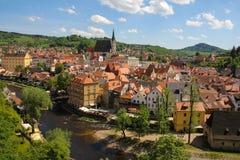 cesky tjeckisk krumlovrepublik Arkivfoton