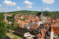 cesky tjeckisk krumlovrepublik Royaltyfri Foto