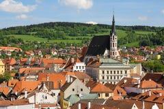 cesky tjeckisk krumlovrepublik arkivbilder