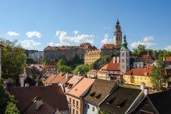 cesky tjeckisk krumlovrepublik Arkivbild