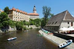cesky vltava ποταμών krumlov κάστρων Στοκ φωτογραφίες με δικαίωμα ελεύθερης χρήσης
